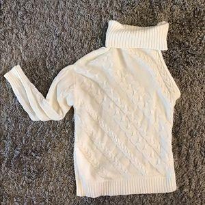 One arm  turtleneck sweater